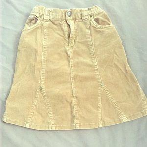 Brown Corduroy Skirt - size 6x/7